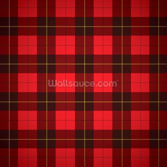 Wallace tartan Scottish plaid wall mural