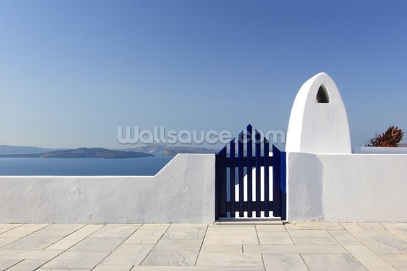 White and Blue, Santorini, Greece mural wallpaper
