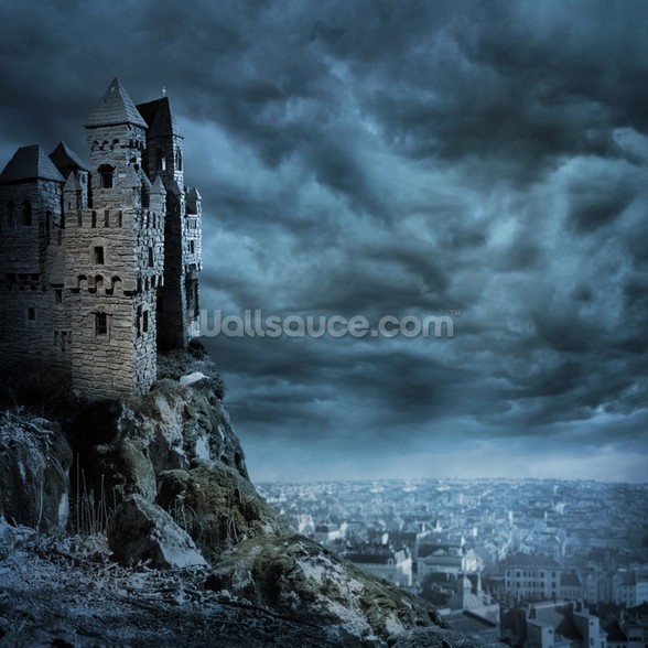 Castle wall mural castle wallpaper for Castle wall mural