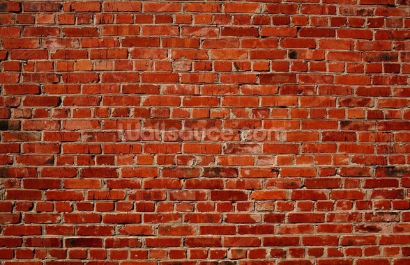 Red Brick Wall mural wallpaper