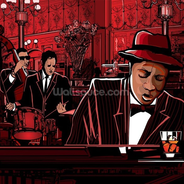 Jazz Piano wall mural