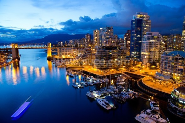 Vancouver at Night wallpaper mural