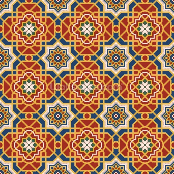 Arabesque seamless pattern in editable vector file wall mural