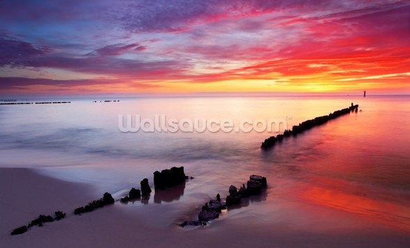 Baltic Sea Sunrise wallpaper mural