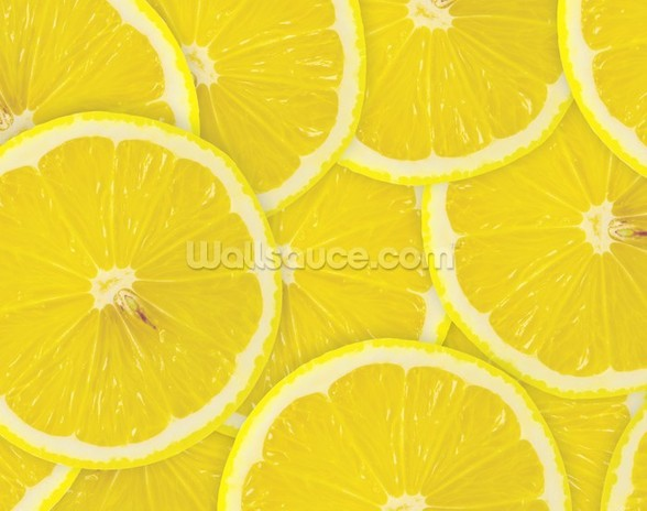 Lemon Slices wall mural