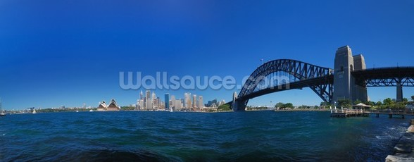 Sydney Harbour Skyline Panorama wall mural