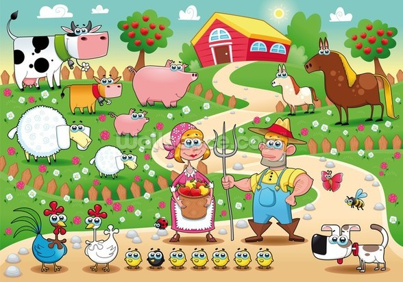 Country Farm wall mural
