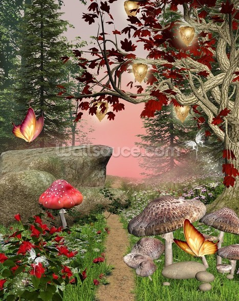 Enchanted Nature Pathway mural wallpaper