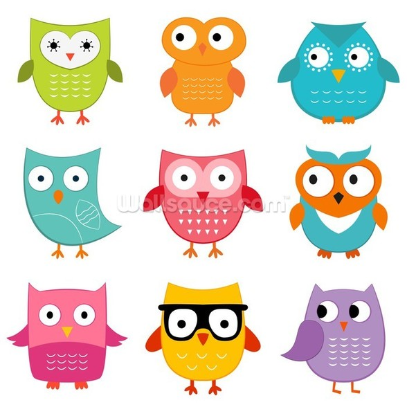 Nursery Owls wall mural
