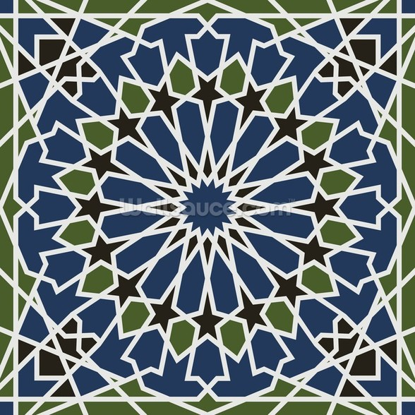 Arabesque seamless pattern wall mural
