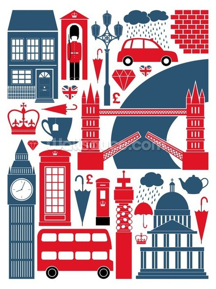 London Icons wall mural