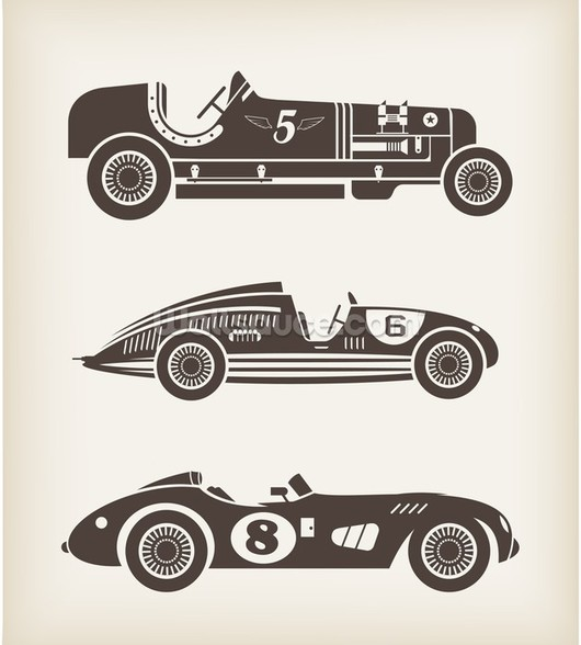 Vintage Racing mural wallpaper