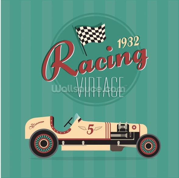 Vintage Racing Car wall mural
