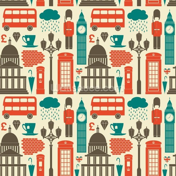 London Background wall mural