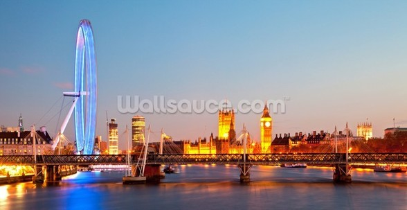 London Eye Panorama mural wallpaper