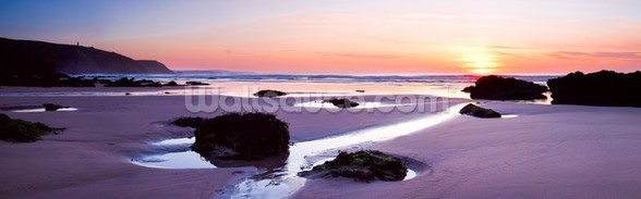 Porthtowan Beach Cornwall mural wallpaper