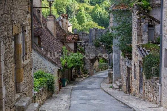 Historic Rocamadour Street, France wall mural