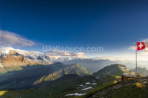 Swiss Alps mural wallpaper