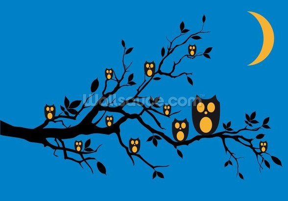 Night Owls wallpaper mural