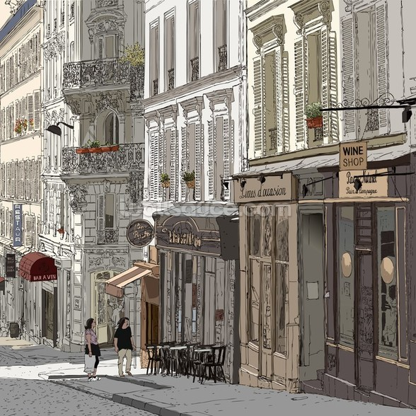 Montmartre, Paris mural wallpaper