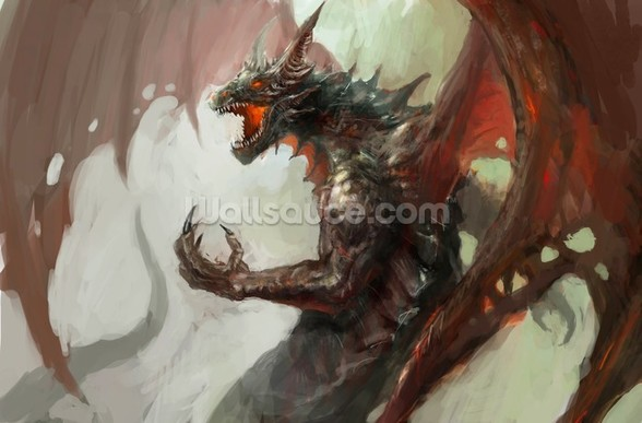 Dragon rage wall mural