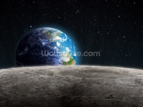Rising Earth wall mural
