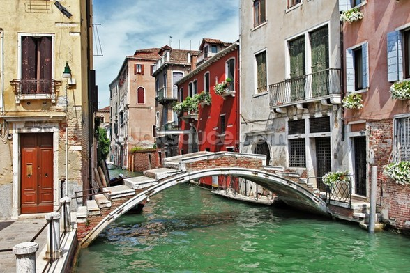 Pictorial Venice wall mural
