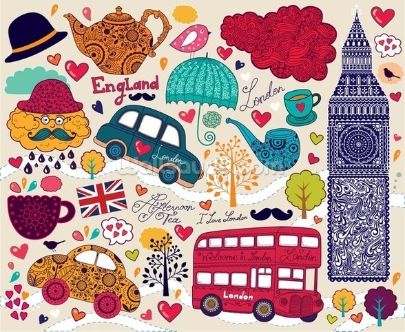 Kids London Montage wall mural