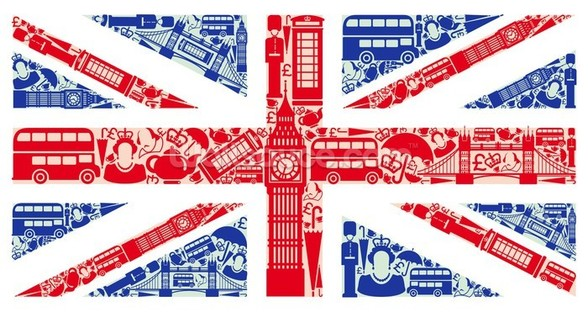 Union Jack Montage wall mural