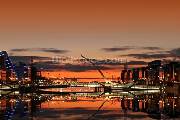 Liffey Sunrise wallpaper mural