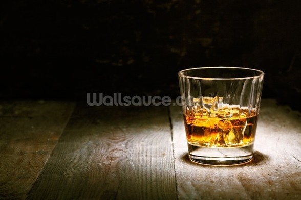Scotch on Wood mural wallpaper