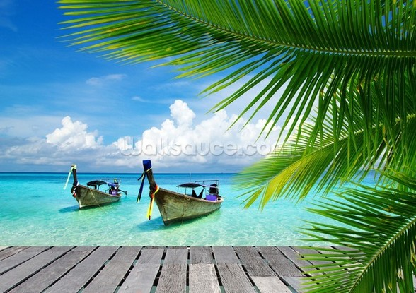 Tropical Sea View wallpaper mural