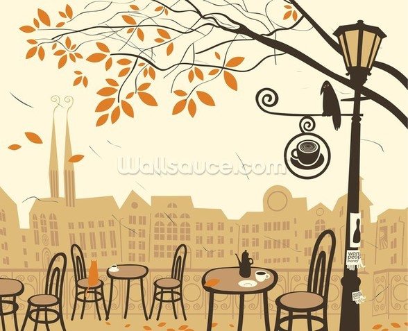 Street Cafe wall mural