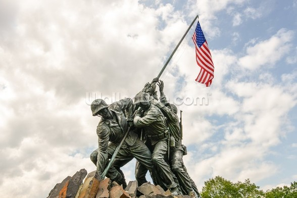 Iwo Jima in Washingron DC mural wallpaper