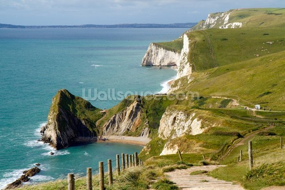 Dorset Coast mural wallpaper