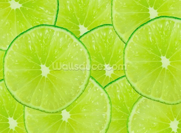 Lime wallpaper mural