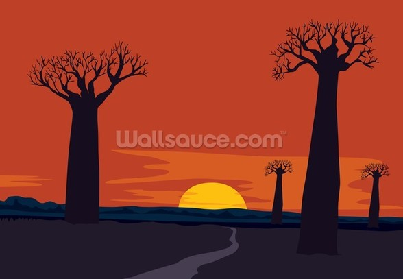 Boab Trees wallpaper mural