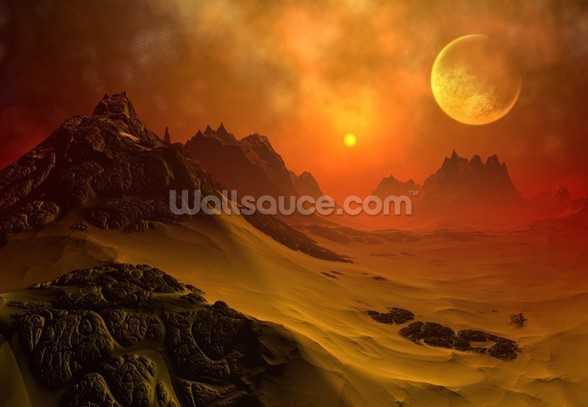 Fantasy Alien Planet 2 wall mural