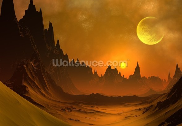 Fantasy Alien Planet mural wallpaper