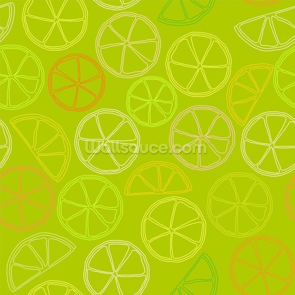 Citrus Pattern wall mural