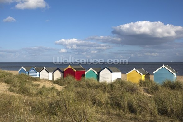 Beach Huts, Southwold wallpaper mural