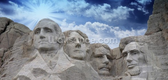 Mount Rushmore, South Dakota mural wallpaper