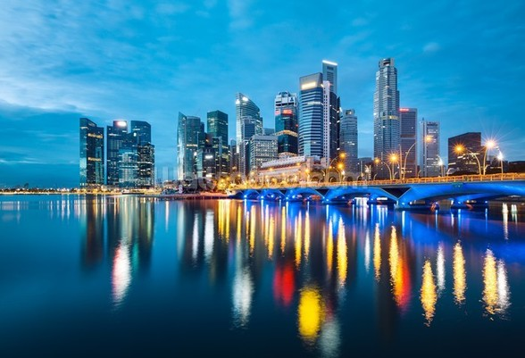 Singapore Reflections wall mural