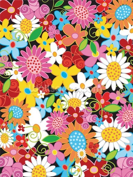 Spring Flower Power wall mural