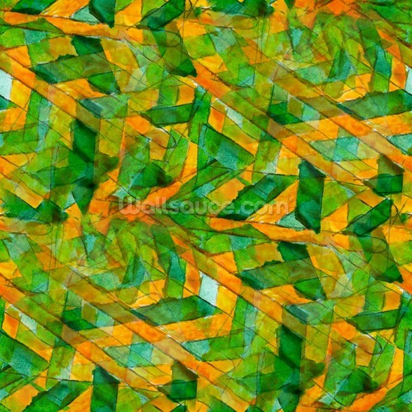 Picasso - Green Yellow Cubism wallpaper mural