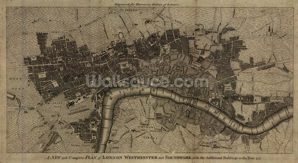 Old London Map mural wallpaper