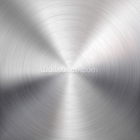 Circular Metal Brushed Texture wallpaper mural