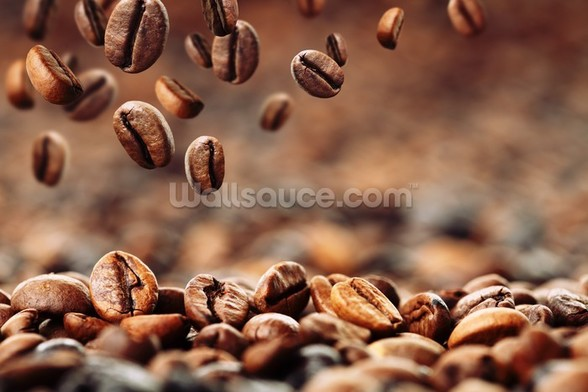 Coffee Beans mural wallpaper