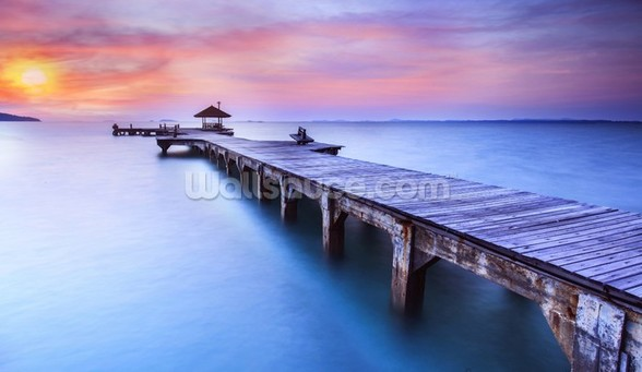 Jetty Sunrise wall mural