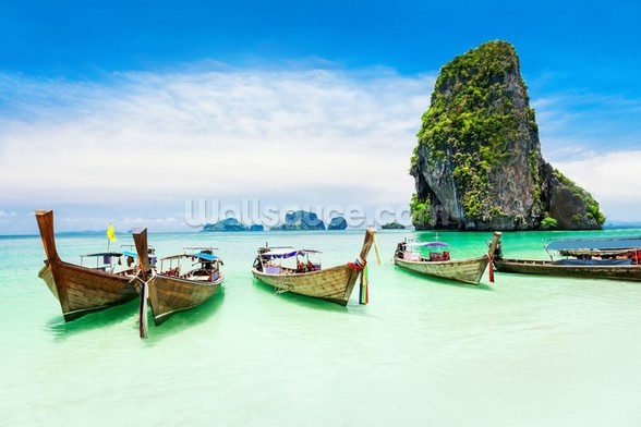 Longtail Boats, Thailand wall mural